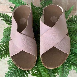 Fitflop Crisscross Cork Lavender Women's Sandals 8